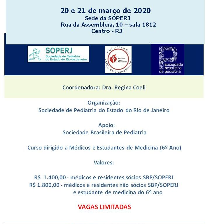 Curso PALS – Pediatric Advanced Life Support American Heart Association