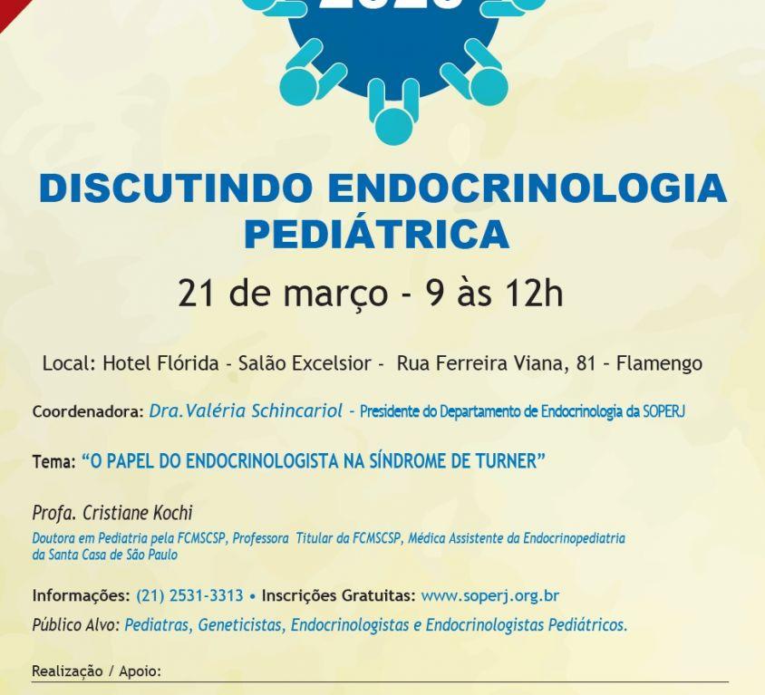 Discutindo Endocrinologia Pediátrica – Dia 21 de Março de 2020