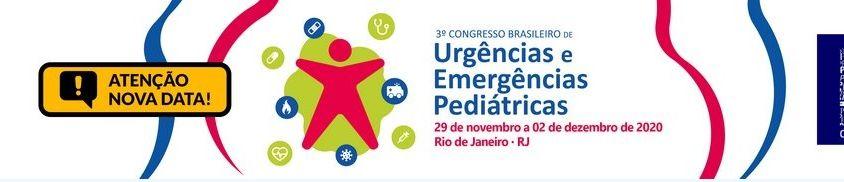 Nova Data para o 3º Congresso Brasileiro de Urgências e Emergências Pediátricas
