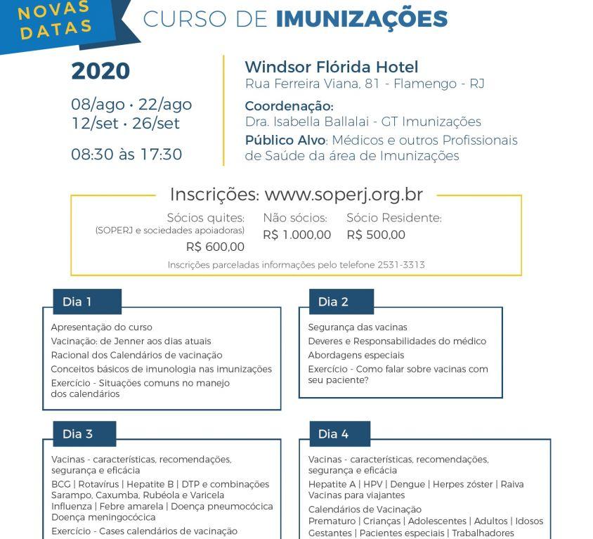 Curso de Imunizações -Novas Datas!