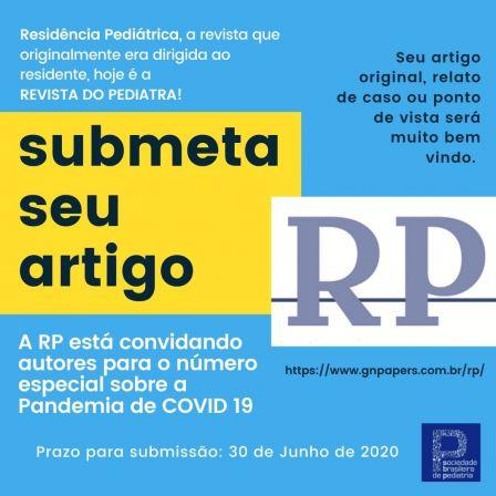 Submeta Seu Artigo – Revista Residência Pediátrica