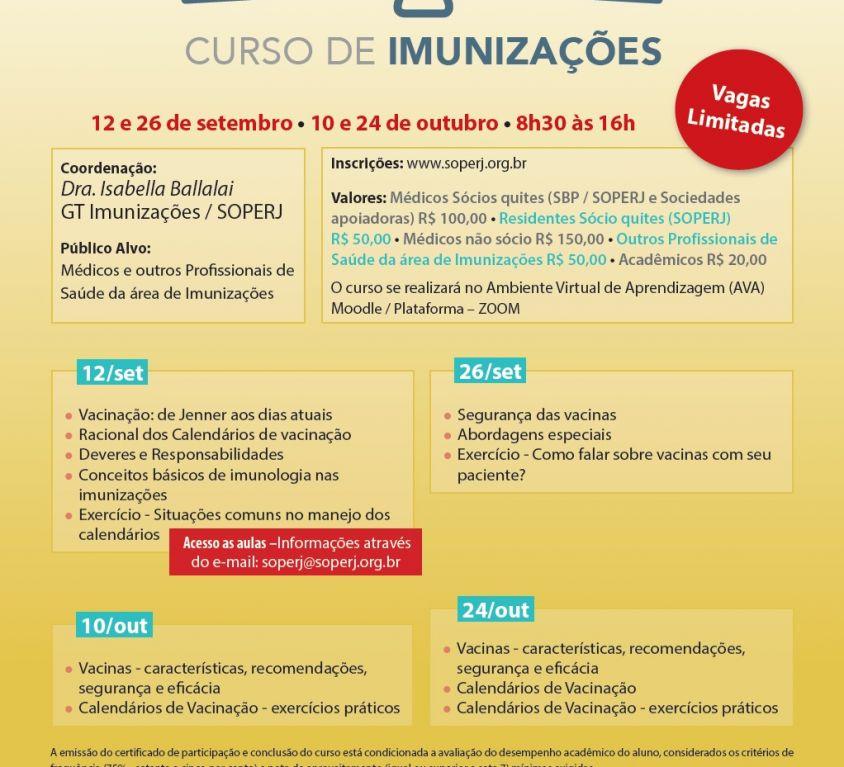 Curso de Imunizações -Inscrições Abertas!
