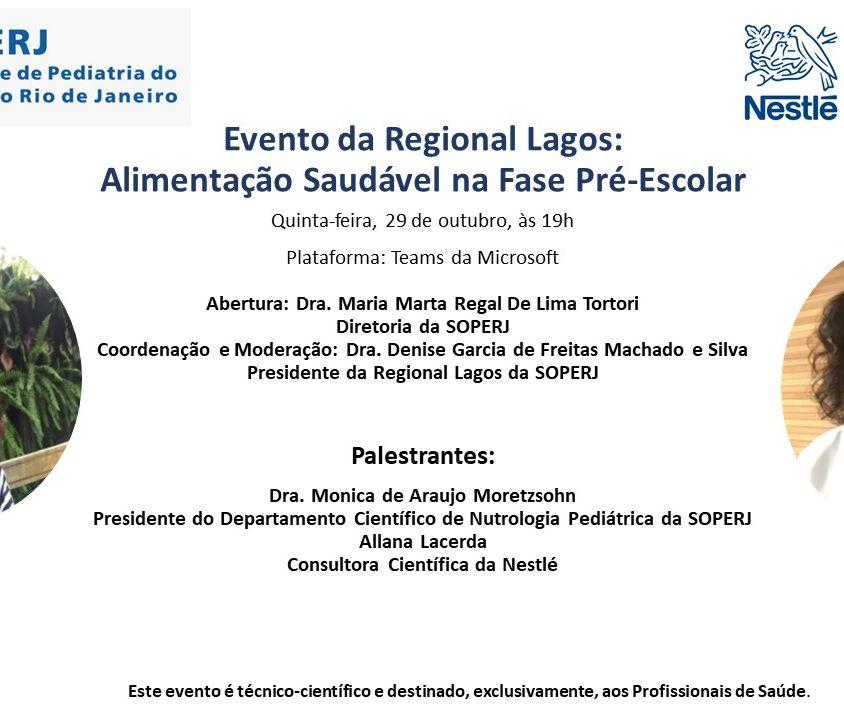 Evento da Regional Lagos: Alimentação Saudável na Fase Pré-Escolar