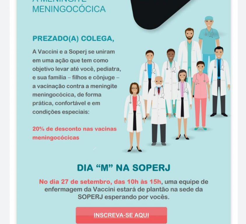 Vaccini, SOPERJ e você contra a Meningite Meningocócica